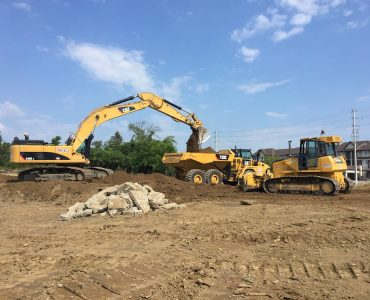Siteworks for Construction of Majestic Condos by Valery Homes